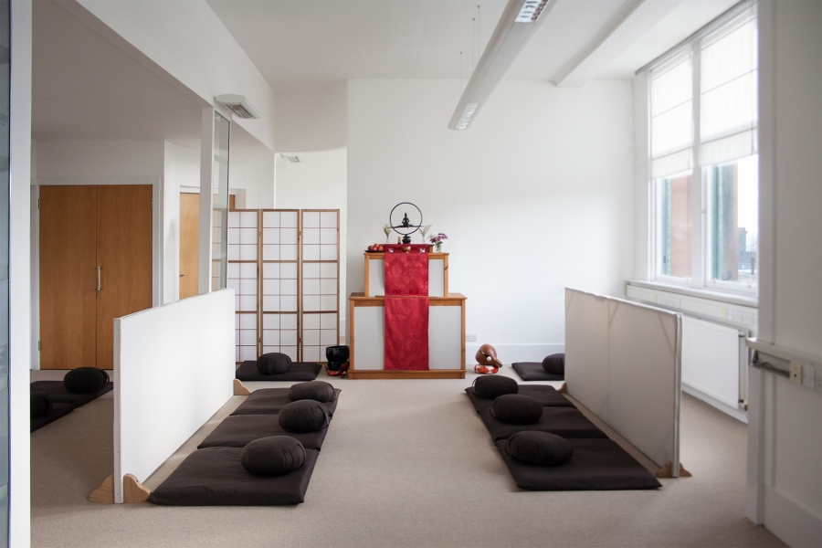 The zendo (meditation hall)